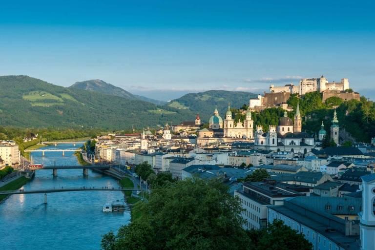 Panoramic view of Salzburg in Austria.