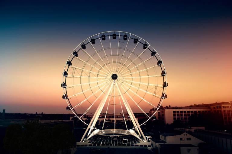 Das Riesenrad Umadum in München.