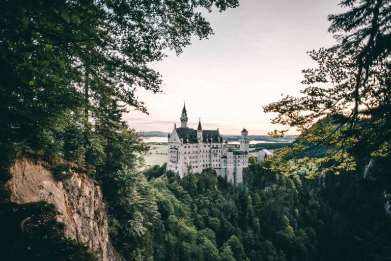 Neuschwanstein Castle in the surrounding region of Munich.