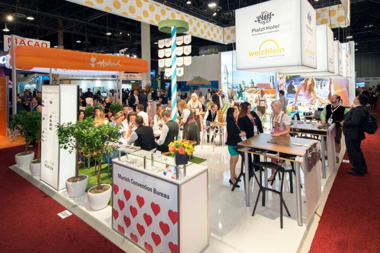 Munich's stand at IMEX America in Las Vegas