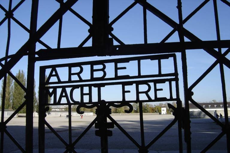 Entrance gate of the Dachau Concentration Camp Memorial Site.